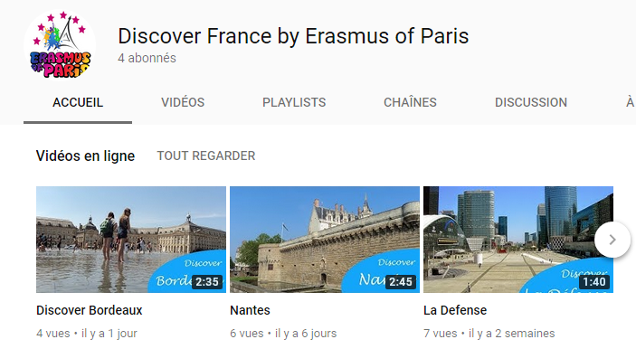 Discover France by Erasmus of Paris