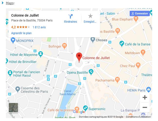 Erasmus of Paris HTML5 Embedded Maps